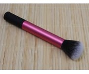 Pinsel - Puder rund pink/schwarz