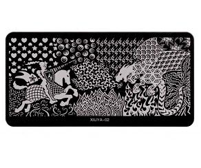 Stamping Platte - Drachenkönig 02