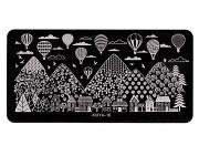 Stamping Platte - City & Balloons 16