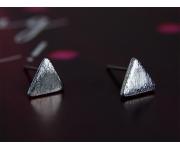 Ohrstecker Dreieck silber