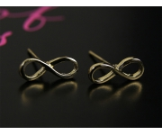 Ohrstecker Infinity gold