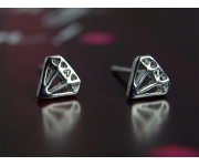 Ohrstecker Diamonds silber