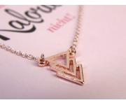 Halskette 3 Dreiecke Roségold
