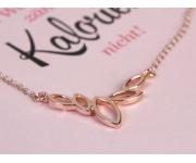 Halskette Blätter Roségold