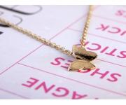 Halskette Schmetterling Gold