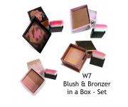 W7 blush & bronzer in a box - Set