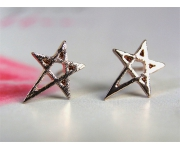 Ohrstecker Star roségold