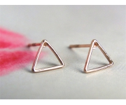 Ohrstecker Triangle roségold