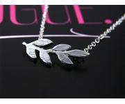 Halskette Zweig Silber