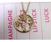Halskette Lebensbaum Gold