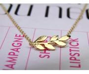Halskette Zweig Gold