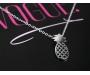 Halskette Ananas Silber