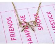 Halskette Schleife Gold