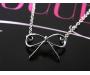 Halskette Schleife Silber