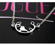 Halskette Vogel Silber