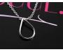 Halskette Tropfen Silber