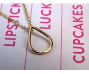 Halskette Tropfen Gold