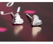 Ohrstecker Herz silber