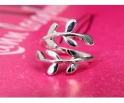 Ring Zweig Silber