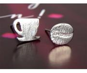 Ohrstecker Coffee Silber