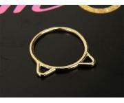 Ring Katzenohren Gold