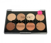 technic Colour Fix Cream Foundation Contour Palette - helle Haut