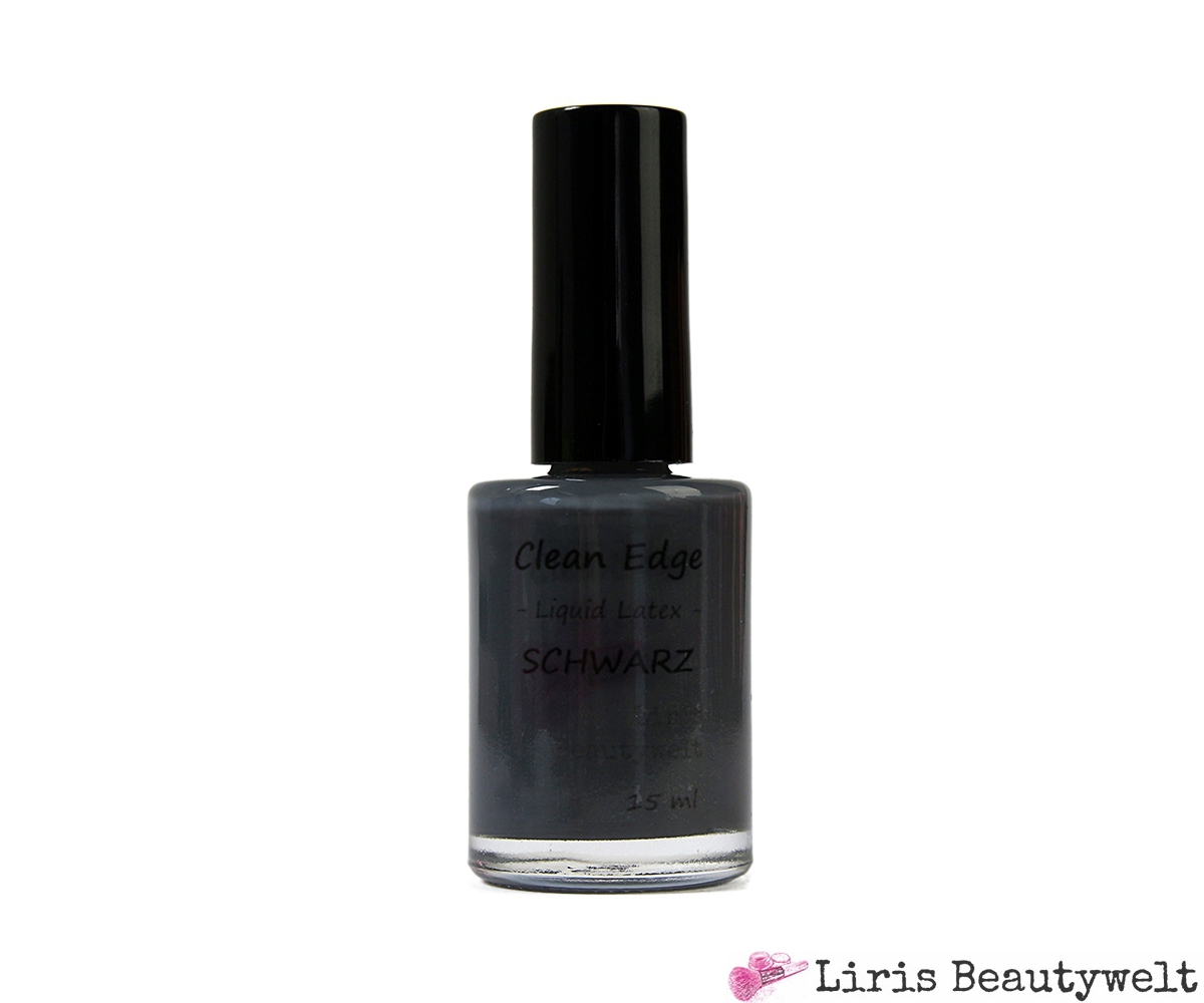 clean edge liquid latex schwarz 15 ml liris beautywelt online shop. Black Bedroom Furniture Sets. Home Design Ideas
