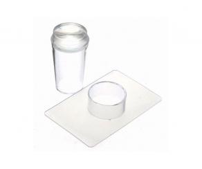 Silikon Stempel und Schaber Set für Nailart Stamping