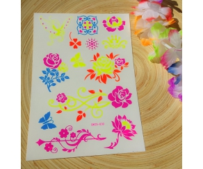 Body Tattoo NEON Blumen
