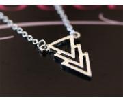 Halskette 3 Dreiecke Silber