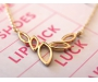 Halskette Blätter Gold