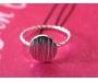 Ring Dot Silber