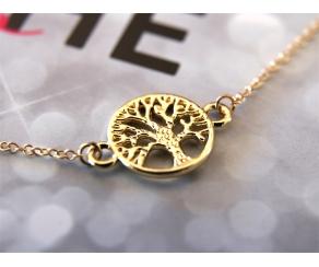 Armband Lebensbaum Gold