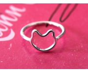 Ring Katze Silber