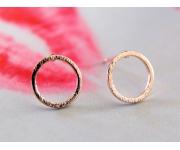 Ohrstecker Ring roségold