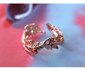 Ring Blätter Roségold