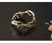 Ring Blätter Gold