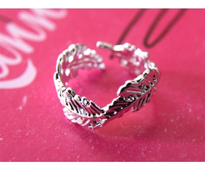 Ring Blätter Silber