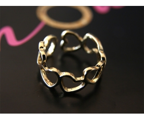 Ring Hearts Gold