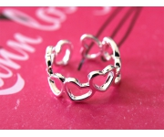 Ring Hearts Silber