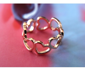 Ring Hearts Roségold
