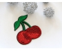 Patch mit Pailletten - Cherry