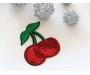 Patch mit Pailletten - Cherry