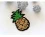 Patch mit Pailletten - Ananas