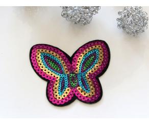 Patch mit Pailletten - Schmetterling