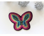 Patch mit Pailletten - Schmetterling