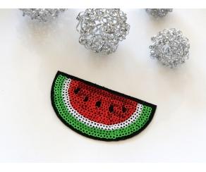 Patch mit Pailletten - Melone