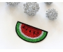 Patch mit Pailletten - Melone