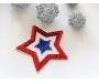 Patch mit Pailletten - Stern USA