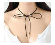 Choker Halskette Stern und Kreuz Gold